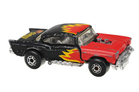 Adelaide, Australia - July 05, 2016:An isolated shot of a 1979 57 Chevy Matchbox Diecast Toy Car. Replica diecast toy cars made by Matchbox are highly sought after collectables. Editorial