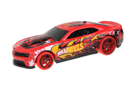 sought: Adelaide, Australia - July 08, 2016:An isolated shot of a 2012 Camaro ZL Hot Wheels Diecast Toy Car. Hot Wheels cars made by Mattel are highly sought after collectables.