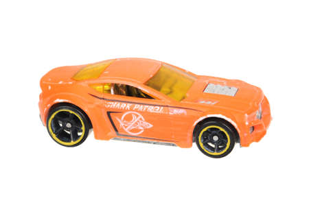 torque: Adelaide, Australia - July 17, 2016:An isolated shot of a 2009 Torque Twister Hot Wheels Diecast Toy Car. Hot Wheels cars made by Mattel are highly sought after collectables. Editorial
