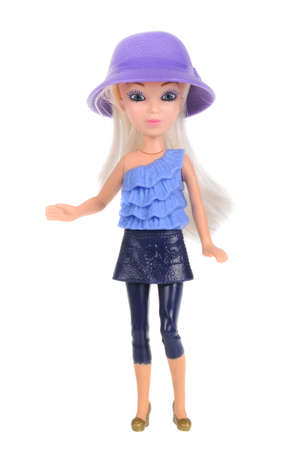 barbie: Adelaide, Australia - February 09, 2016:A studio shot of a Barbie Happy Meal Toy. Distributed with Mcdonalds Happy Meals to promote the popular Barbie range of toys.
