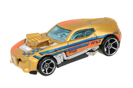 sought: Adelaide, Australia - July 08, 2016:An isolated shot of a 2010 Twinduction Hot Wheels Diecast Toy Car. Hot Wheels cars made by Mattel are highly sought after collectables.