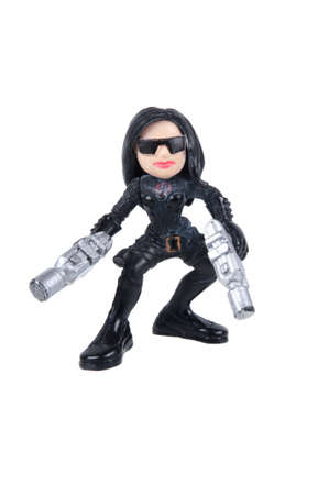 action figure: Adelaide, Australia - July 29, 2015: The Baroness GI Joe Combat Heroes Action Figure. Merchandise from the GI Joe universe are highly sought after collectables.