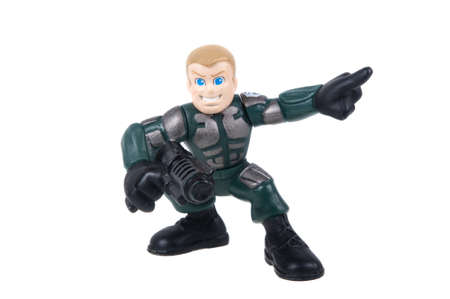 Adelaide, Australia - July 29, 2015: A Duke GI Joe Combat Heroes Action Figure. Merchandise from the GI Joe universe are highly sought after collectables. Editorial
