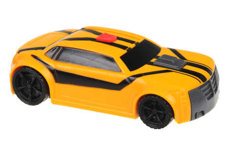mcdonalds: Adelaide, Australia - July 08, 2016:A studio shot of a 2012 Transformers Prime Bumblebee Happy Meal Toy. Distributed with Mcdonalds Happy Meals to promote the popular Transformers animated series. Editorial