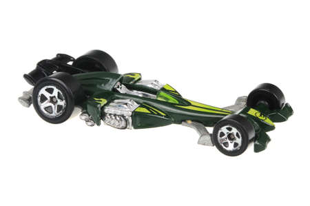 sought: Adelaide, Australia - June 29, 2016:An isolated shot of a Nitro Scorcher Hot Wheels Diecast Toy Car. Hot Wheels cars made by Mattel are highly sought after collectables.