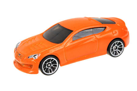 genesis: Adelaide, Australia - July 08, 2016:An isolated shot of a 2010 Hyundai Genesis Coupe Hot Wheels Diecast Toy Car. Hot Wheels cars made by Mattel are highly sought after collectables. Editorial