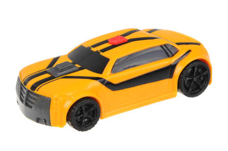 Adelaide, Australia - July 08, 2016:A studio shot of a 2012 Transformers Prime Bumblebee Happy Meal Toy. Distributed with Mcdonalds Happy Meals to promote the popular Transformers animated series. Editorial