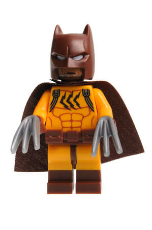 Adelaide, Australia - March 18, 2017:An isolated shot of a Catman Lego Minifigure from the collectable lego minifigure toys. Lego is very popular with children and collectors worldwide. Editorial