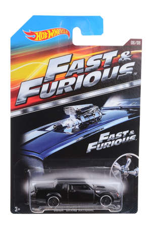 adelaide: Adelaide, Australia - September 23, 2016:An isolated shot of an unopened Fast & Furious Buick Grand National Hot Wheels Diecast Toy Car. Hot Wheels Cars as highly sought after collectables.