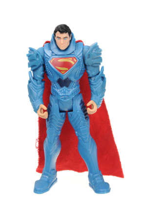 adelaide: Adelaide, Australia - November 05, 2016: A studio shot of a Superman figurine from the DC Comics and Movies. Superman is extremely popular worldwide with children and collectors. Editorial
