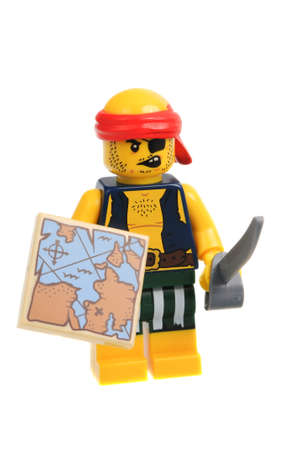 scallywag: Adelaide, Australia - December 06, 2016:An isolated shot of a Scallywag Pirate Lego Minifigure from Series 16 of the collectable lego minifigure toys. Lego is very popular with children and collectors worldwide. Editorial