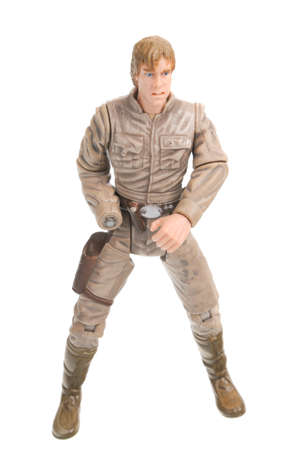 Adelaide, Australia - February 02, 2017: A studio shot of a Bespin Princess Luke Skywalker Figure on a white background from the Star Wars universe. Star Wars is a very popular movie franchise worldwide and merchandise from Star Wars movies are highly sou