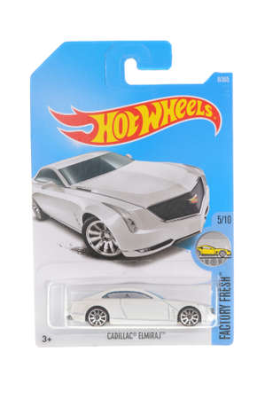 Adelaide, Australia - November 05, 2016:An isolated shot of an unopened Cadillac Elmiraj Hot Wheels Diecast Toy Car. Hot Wheels Cars as highly sought after collectables.