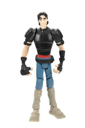 Adelaide, Australia - November 03, 2015: An isolated image of a Casey Jones Action Figure from the Teenage Mutant Ninja Turtles. Teenage Mutant Ninja Turtles is a very popular animated and movie series with merchandise being highly sought after collectabl