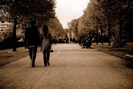 welcom: London park 1940 Stock Photo