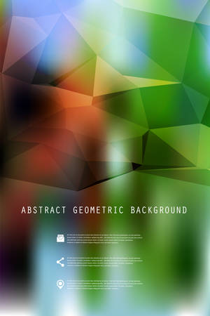 place for text: Abstract bright geometric polygonal background with place for your text