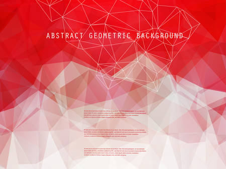 Abstract bright geometric polygonal background with place for your text