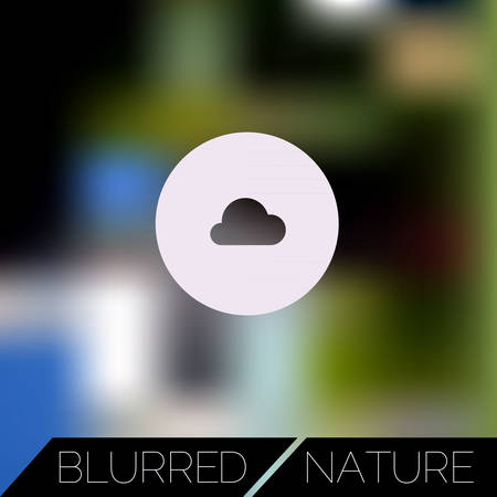 diversion: Abstract blurred UI concept with entertainment icons