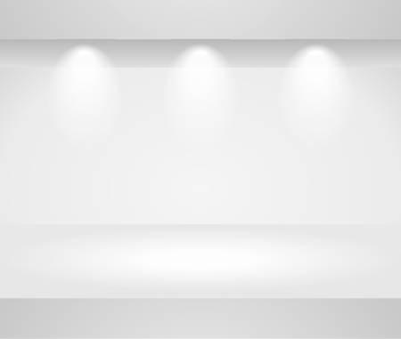 vitrine: Three dimensional template of a blank shelf