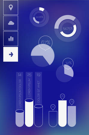 Flat ui design infographic template Illustration