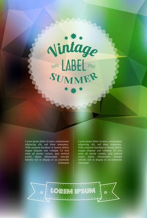Vintage Sale Special Offer Sticker Illustration