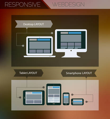 Responsive webdesign technology page design template concept Vector