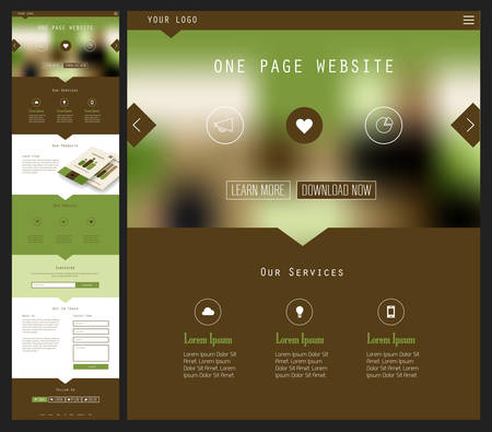 website header: One Page Website Design