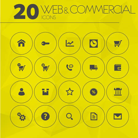 call log: Simple thin web and commercial icons collection