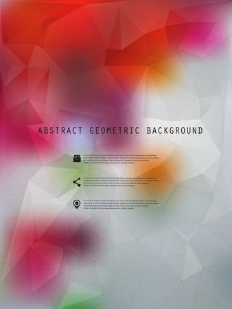 tints: Abstract vector geometric polygonal background poster with place for text, 10 EPS