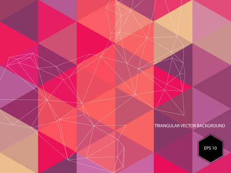 Abstract vector geometric polygonal background with transparency, 10 EPS