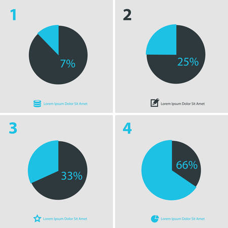 Flat ui design infographics template collection, gray-blue on light background