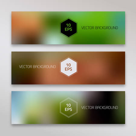 Abstract polygonal backgrounds collection with unfocused texture Illustration
