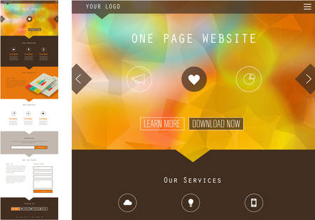 newsletter template: One Page Website Design