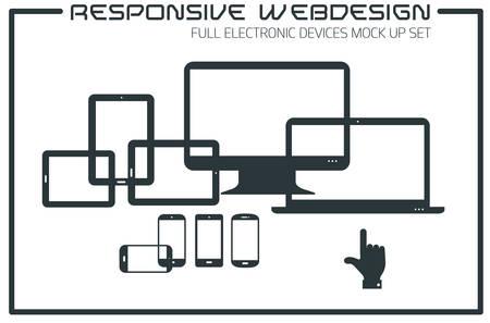 responsive design: Flat responsive design kit