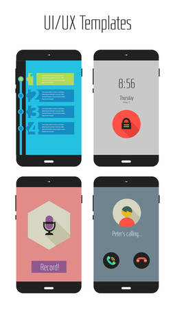 mobile apps: Flat Ui or UX mobile apps kit