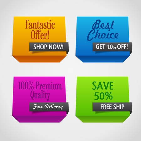 heading the ball: Origami polygonal sale banners Illustration
