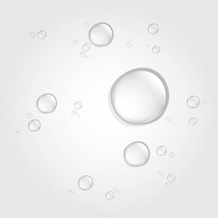 Transparent water drop on light background, 10 EPS Иллюстрация