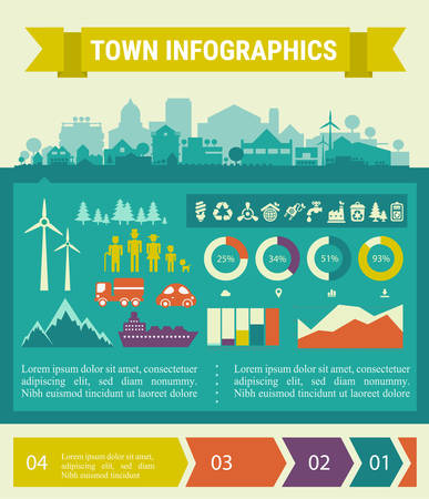 small town: Small town and village info graphics