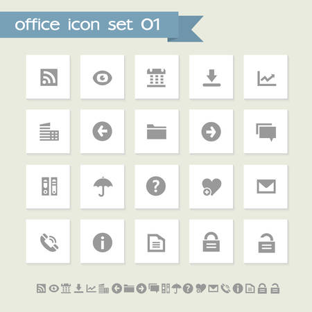 umbrela: Modern flat design simple office icons collection, set 1 Illustration