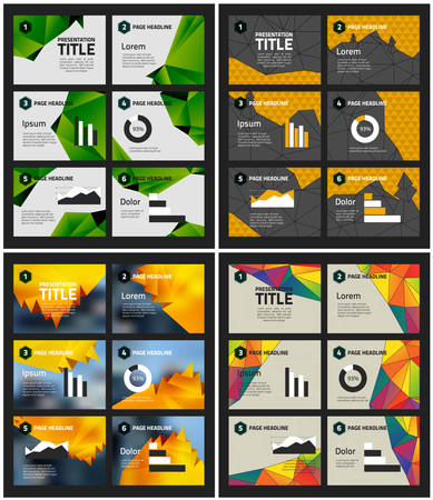 Business Infohraphics Presentation Templates on abstract polygonal backgrounds