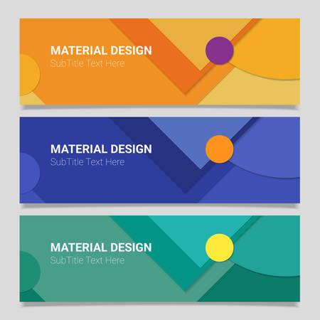 Resumen de diseño de material de vectores fondos de banners horizontales