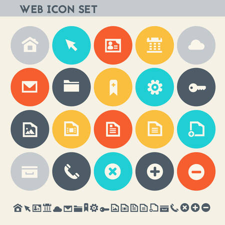 collection: Modern flat design multicolored web icons collection Illustration