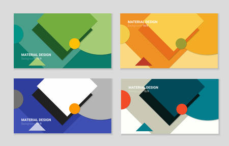 materials: Abstract material design background, four variations