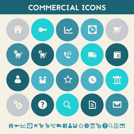call log: Modern flat design multicolored commercial icons collection Illustration