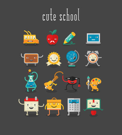 school: Education and school cute objects