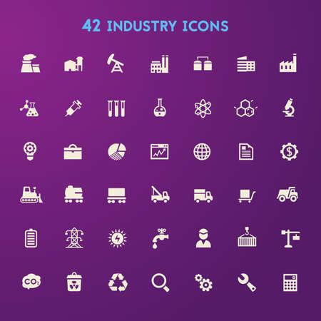 Große Industrie-Icon-Set