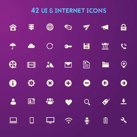 internet icon: Big UI And Internet icon set