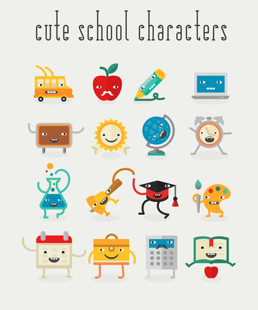 exercisebook: Education and school cute objects