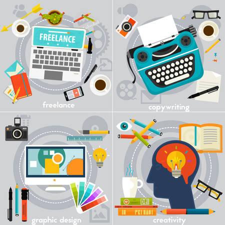 deign: Graphic Deign, Copywriting, Creativity and Freelance Concept Banners Illustration