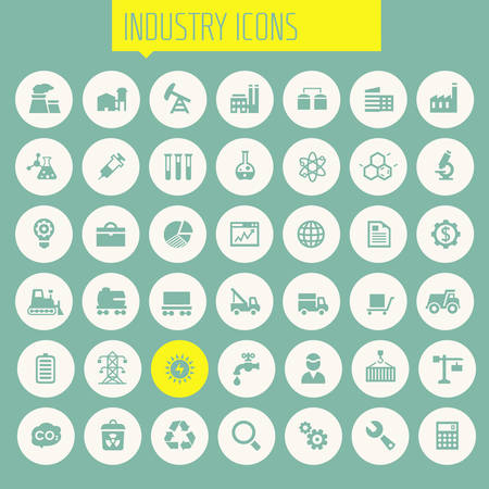 Big Industry icon set Illustration